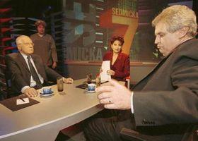 Zeman aKlaus vpořadu TV Nova, Foto: ČTK