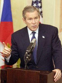George Bush en Praga, foto: CTK