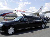 Первый зарубежный визит главы Российского государства, где использовался новый отечественный лимузин «Аурус» проекта «Кортеж», фото: Kremlin.ru, CC BY 4.0