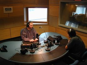 Рабочая обстановка в студиях Радио Прага