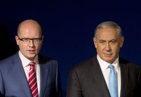 Bohuslav Sobotka et Benyamin Netanyahou, photo: ČTK
