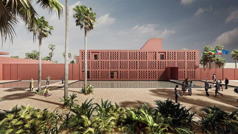 El diseño ganador de la nueva Embajada de la RCh en Etiopía, foto: Jana Hájková, Kristína Boháčová