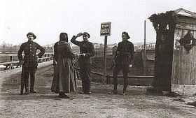 La frontière entre la Tchécoslovaquie et l'Autriche