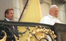 Václav Havel and Pope John Paul II in 1990, photo: CTK