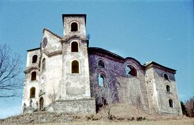 Kostel vNeratově v70. letech minulého století, foto: Svobodat, Wikimedia Commons, CC BY-SA 3.0