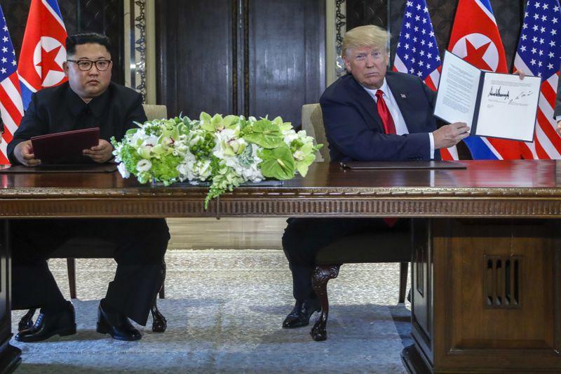 Donald Trump y Kim Jong-un, foto: ČTK/AP Photo/Evan Vucci