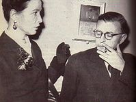 Simone de Beauvoir et Jean-Paul Sartre