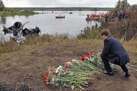 Дмитрий Медведев на месте крушения Як-42Д 8 сентября 2011 года, фото: Kremlin.ru CC BY 4.0
