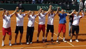 Los checos en Copa Davis, foto: ČTK