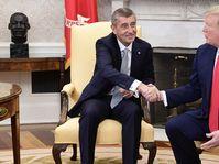 Andrej Babiš a Donald Trump, foto: ČTK / Roman Vondrouš