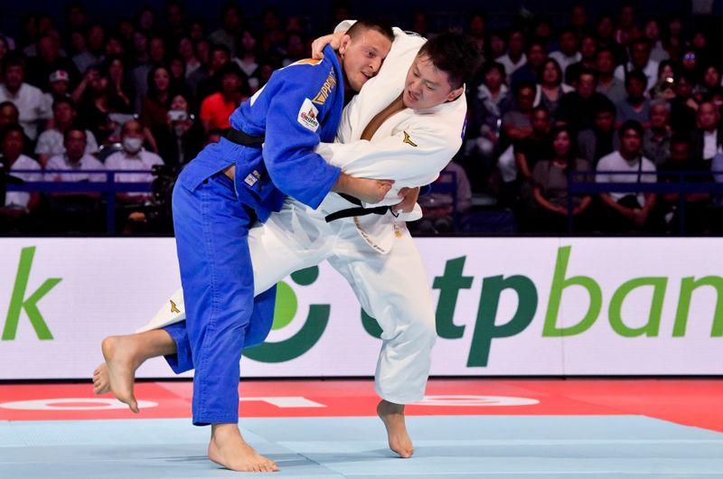 Lukáš Krpálek est parvenu en finale à prendre le dessus sur le Japonais Hisayoshi Harasawa, photo: ČTK / Vít Šimánek