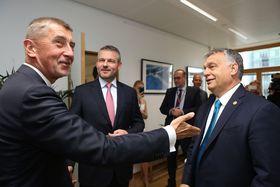 A. Babiš (à gauche) avec ses homologues slovaque P. Pellegrini et hongrois V. Orban, photo: Site officiel du Gouvernement de la République tchèque