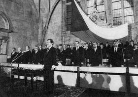 Nuevo presidente checoslovaco, Vaclav Havel