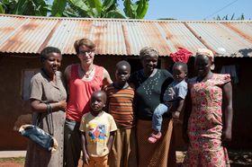 Emmanuelle visiting farmers, photo: archive of Kateřina and Emmanuelle Chauveau