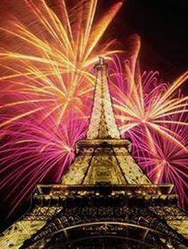 Fin del año en la Torre Eiffel
