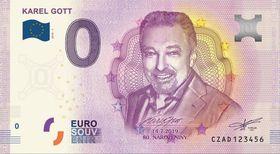 Памятная банкнота с портретом К. Готта, фото: Supraphon