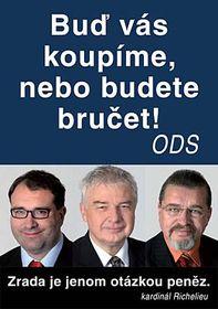 Socialdemócratas critican en su folleto a sus diputados Michal Pohanka, Miloš Melčák y Evžen Snitílý (Foto: CTK)
