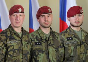 Les trois soldats tchèques, Martin Marcin, Kamil Beneš, Patrik Štěpánek ont été tués dans un attentat-suicide en Afghanistan, photo: L'Armée tchèque