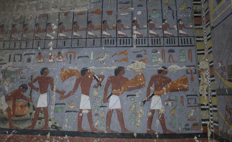Detail výzdoby východní stěny Chuwyho předsíně, фото: Гана Вымазалова, архив Чешского египтологического института