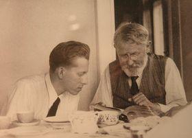 Otto Wichterle s profesorem Emilem Votočkem, foto: Archiv Akademie věd ČR
