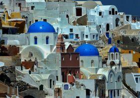 La iglesia de Anastasis en Santorini, Grecia, foto: patano, CC BY-SA 3.0