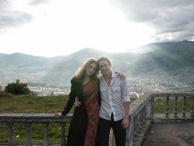 Jirí Srnec y  Karolína Srncová en Ecuador