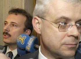 Milos Kuzvart y Vladimir Spidla, foto: CTK