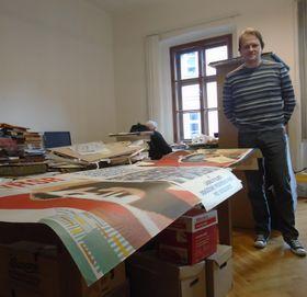 Jindřich Čeladín, comisario de la Colección de Objetos Históricos del Museo de la Ciudad de Praga, foto: Ana Briceño