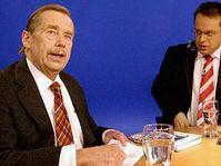 Václav Havel v pořadu ČT, foto: ČTK