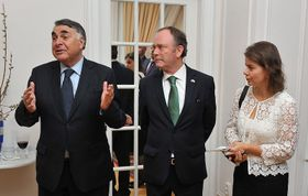 Edgardo Riveros y Rodrigo Gaete, foto: Embajada de Chile