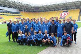 Nachwuchs-Fußballspieler des FK Ústí in Dresden (Foto: Archiv FK Ústí nad Labem)