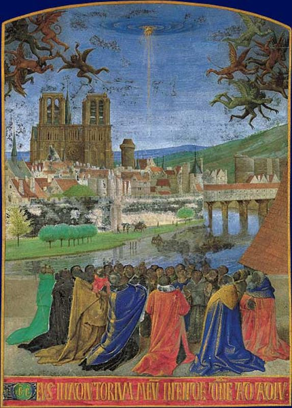 'La Descente du Saint-Esprit', enluminées par Jean Fouquet, source: public domain
