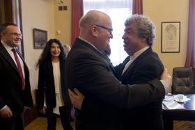 Министр культуры Чехии Даниэл Герман и Семен Бычков, Фото: ЧТК