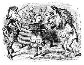 Ilustración de Sir John Tenniel, fuente: free domain