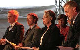 Carl Bildt, Pavel Bem, Sweden's Princess Christina, Mirek Topolanek, photo: CTK
