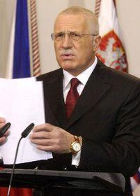 Presidente checo, Václav Klaus, foto: CTK