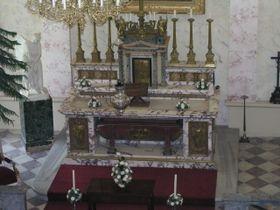 El altar de mármor del palacio de Kynzvart
