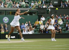 Barbora Strýcová, Hsieh Su-wei, photo: ČTK/AP/Tim Ireland
