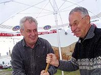 Milos Zeman and Jan Fencl, photo: CTK