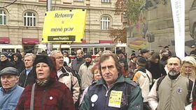 Anti-austerity protests in 2011, photo: Czech Television