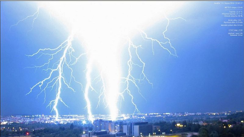 15,000 lightning bolts recorded in one night, photo:  ČHMÚ Plzeň