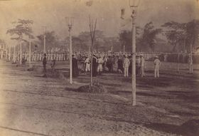 Hinrichtung José Rizal (Foto: Manuel Arias Rodriguez, Wikimedia Commons, Public Domain)