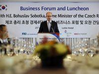 Bohuslav Sobotka en Corée du Sud, photo: ČTK