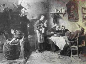 La cerveza se bebía en Bohemia ya en la Edad Media..., fuente: public domain