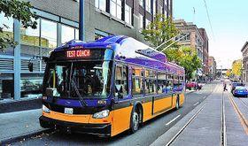 Oberleitungsbus in Seattle (Foto: Archiv von Škoda Electric)