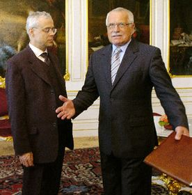 Prime Minister Vladimir Spidla and Prezident Vaclav Klaus, photo: CTK