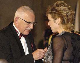 Václav Klaus aKateřina Neumannová, foto: ČTK