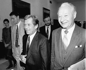 Václav Havel et Alexander Dubček, photo: CTK