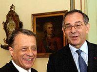 Petr Uhl et Joël de Zorzi, photo: CTK