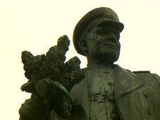 Памятник маршалу Коневу (Фото: Чешское телевидение)